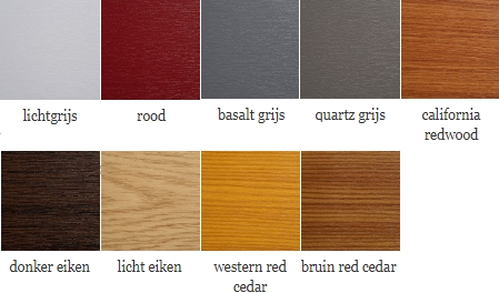 dakrand kleuren