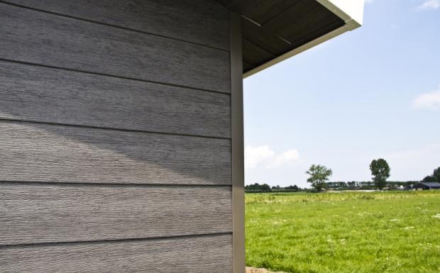 Wood Design volschuim gevelpanelen met 3 kleuren technologie